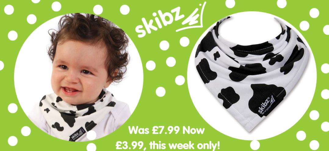 Cow-print-bandana-dribble-bib