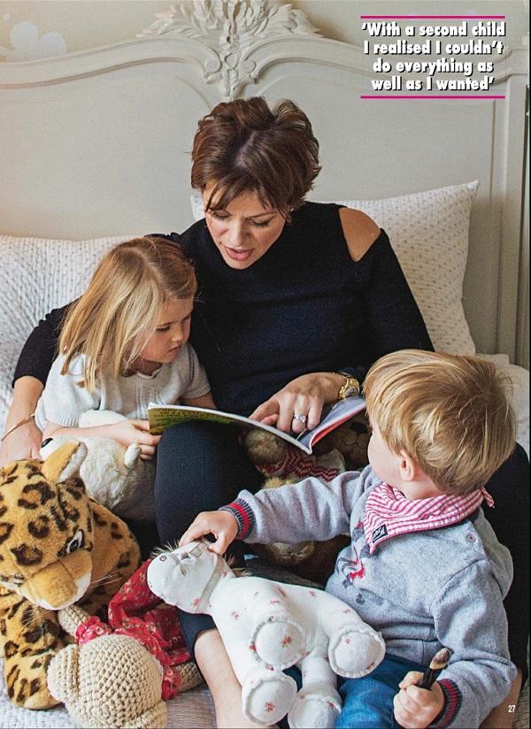 Kate Silverton and children in Hello!
