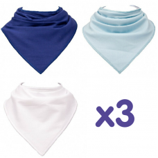 Skibz Essentials Dribble Bibs, Blues x3