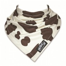 Skibz Original Bandana Bib, Brown Cow