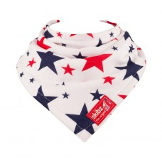 Skibz Original Bandana Bib, Red and Blue stars