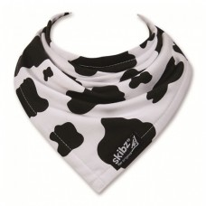 Skibz Original Bandana Bib, Black & White Cow