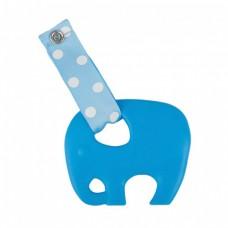 Skibz Pop-itz Teetherz Bib Accessory, Bright Blue Teether