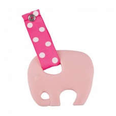 Skibz Pop-itz Teetherz Bib Accessory, Pale Pink Teether