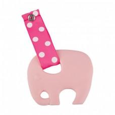 Skibz Pop-itz Teetherz Bib Accessory, Pale Pink Teether