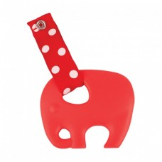 Skibz Pop-itz Teetherz Bib Accessory, Red Teether
