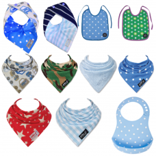 The Ultimate 11 pack of Baby boys Skibz Bib Collection.